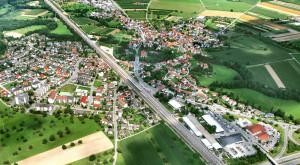 Luftbild von Eimeldingen