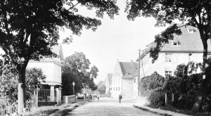 Die alte Landstraße in Eimeldingen um 1905, Foto August Hoeflinger