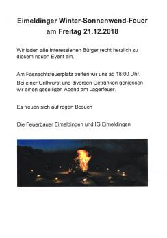 Winter-Sonnenwend-Feuer