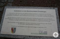 Denkmal Maschienenfabrik Denktafel Kreisteiltisch